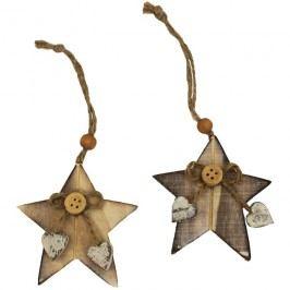 Dekorační hvězdy přírodní, 2ks