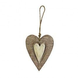 Srdce dřevěné malé