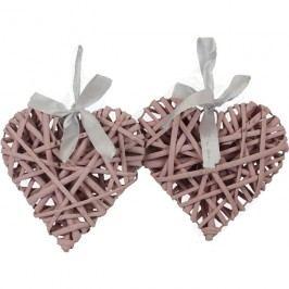 Srdce 15 cm, růžové, sada 2 ks P0228-05