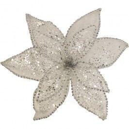 Dekor. květ 25cm, bílý