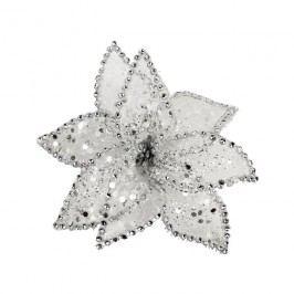 Dekor. květ 15cm, bílý