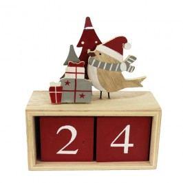 Dřevěná dekorace kalendář