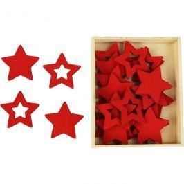 Dřevěné hvězdičky, 24ks