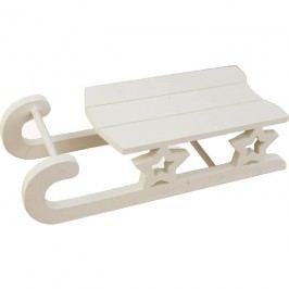 Dřevěné sáňky bílé