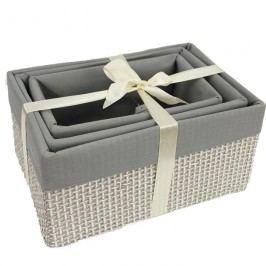 Úložný box sada 3ks košíků X0606