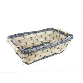 Košík na dárkové balení a ukládaní - miska hranatá velká P0516