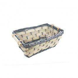 Košík na dárkové balení - miska hranatá malá P0517