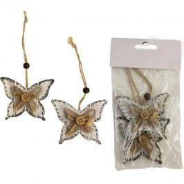 Motýl dřevěný, 2ks
