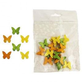 Dekorační motýlci 2cm, 24ks