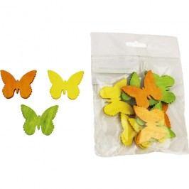 Dekorační motýlci 4cm, 12ks