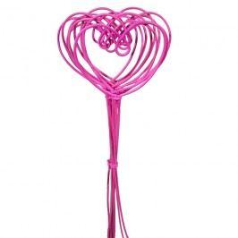 srdce pedig malé,10ks-35cm jas.růžové