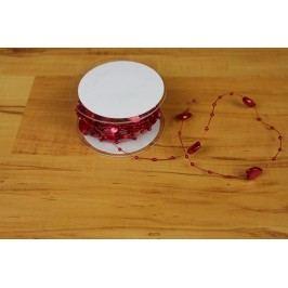řetízek 5 m, srdce a perla červený 381847