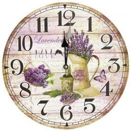 Nástěnné hodiny 34cm - LEVANDULE 355157