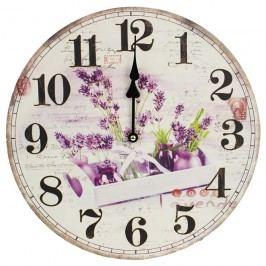 Nástěnné hodiny 34cm - LEVANDULE 355162