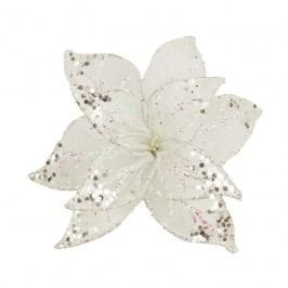 Dekor. květ 20cm, bílý