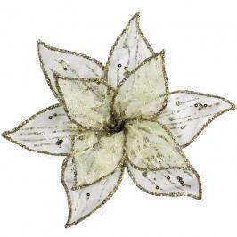 Dekor. květ 20 cm, bílý X0237