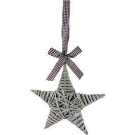 proutěná hvězda 25cm šedá381814-21