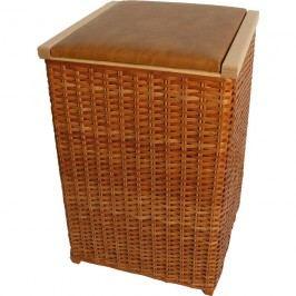 Proutěný koš na prádlo na dřevěné kostře 70539