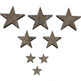 Dřevěné hvězdičky šedé, 30ks