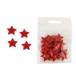 Dekorační hvězdičky červené, 24ks
