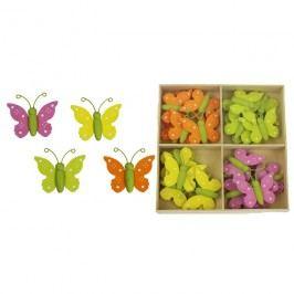 Dekorační motýlci, 24ks D1037