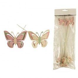 Dekorace motýl, 4ks