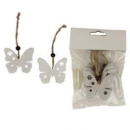 Motýl k zavěšení, 6ks D1027/B