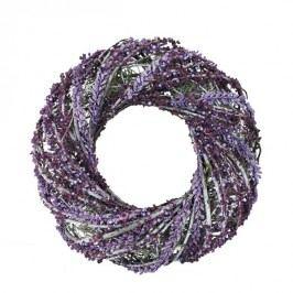 Věnec s fialovými dekoracemi P0787