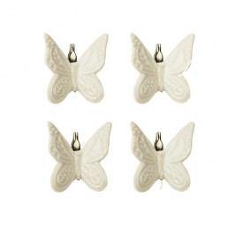 Motýl bílý, 4ks X1299-01