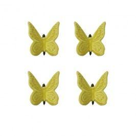 Motýl žlutý, 4ks X1299-02