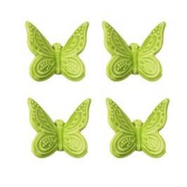 Motýl zelený, 4ks