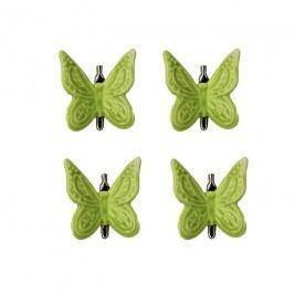 Motýl zelený, 4ks X1299-15