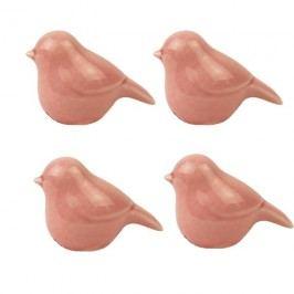 Ptáček růžový, 4ks X1305-05