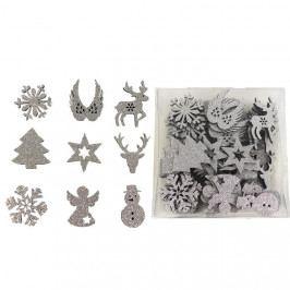 Vánoční dekorace, 72 ks D1233