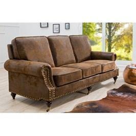 INV Sofa-pohovka Cubana třímístná, hnědá antik