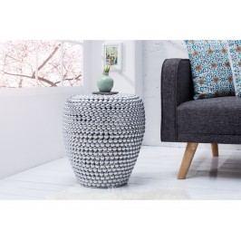 INV Odkládací stolek BULLET 50cm stříbrná