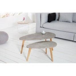 INV Odkládací stolek EPSI 2ks šedé