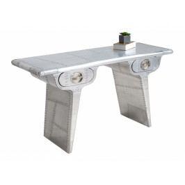 INV Psací stůl VEGA 120cm stříbrný vintage