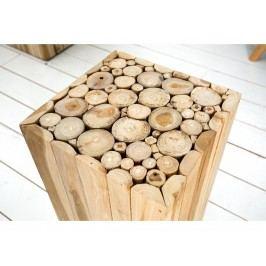 INV Odkládací stolek  Reisig 50cm naplavené dřevo