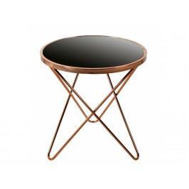 INV Odkládací stolek Formio 55cm měď / černá