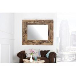 INV Zrcadlo NATURAL 120cm recyklované dřevo