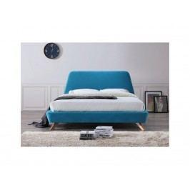 Manželská postel tyrkysové barvy - rozměry 160x200 cm, tyrkysová