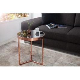 INV Odkládací stolek Focus 50cm, měď-černá
