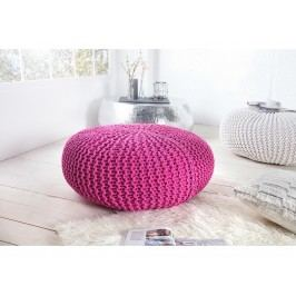INV Puf Cly 80cm růžový, ručně pletený