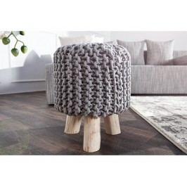 INV Stolička Sedel 45cm šedá, pletená