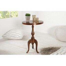 INV Odkládací stolek Barok 55cm měděný, kruhový