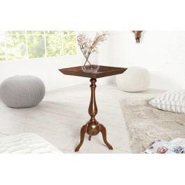 INV Odkládací stolek Barok 55cm měděný, čtverec