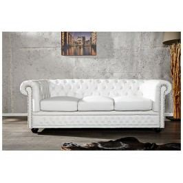 INV Sofa Rosemary třímístné, matná bílá
