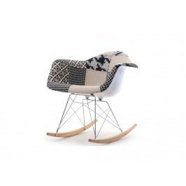 design4life Houpací křesílko Merlote - patchwork