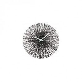 Nástěnné hodiny KOZIOL SILK, černé Koziol 2328526